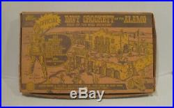 Marx Vintage Walt Disney's Davy Crockett at the Alamo Playset, Boxed