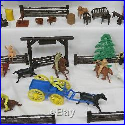 Marx Vintage Western Ranch Playset In Superb Boxed Condition