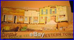 Marx Vintage Wyatt Earp Dodge City Western Town Play Set
