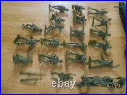 Marx WWII Guns of Navarone mountain with soldiers and vehicles