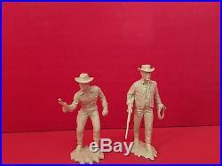 Marx Wagon Train's Major Seth Adams & Flint McCullough Character Figures