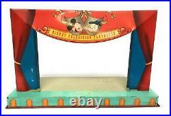 Marx Walt Disney Television Playhouse Tin Theater Playset Figures Props 1950's