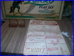 Marx Walt Disney's Zorro Playset #3753 Series 500 With The Cave
