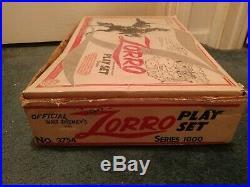 Marx Walt Disney's Zorro Playset Series 1000 Complete
