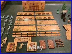 Marx Walt Disneys Davy Crockett At The Alamo Play Set Box#3539