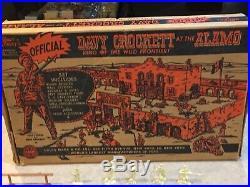 Marx Walt Disneys Davy Crockett At The Alamo Play Set Box#3544