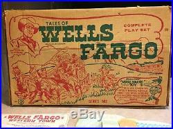 Marx Wells Fargo Tales Of The Wells Fargo Play Set Series 500 Box#4263
