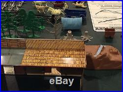 Marx Western Mining Town Play Set With Box