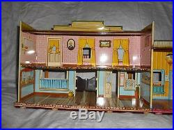 Marx Western Town Hotel Side Dodge City tin litho Wagon Train Silver TOWN RR
