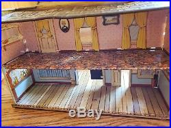 Marx Western Town Hotel Side Silver City Dodge Wagon Train tin litho extras READ
