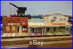 Marx Western Town JAIL SIDE Roy Rogers Wagon Train Dodge Silver City tin litho