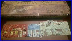Marx Western Town Jail Side with box Dodge City Gun smoke tin litho TOWN RR