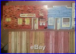 Marx Western Town Jail Side with box Dodge City Roy Rogers Gun smoke tin litho