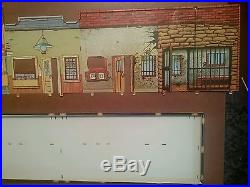 Marx Western Town Jail Side with box Dodge City Roy Rogers Gun smoke tin litho