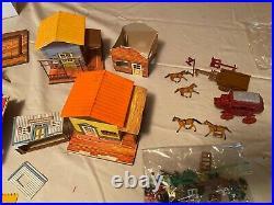 Marx Western Town Miniature Playset
