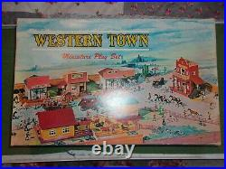 Marx Western Town Miniature Playset. RARE NEW OLD STOCK. 1960S