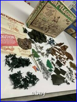 Marx Wwii 3 1950's Battleground Playsets 4751/4752/(2000 Series) 4754 Look! Wow