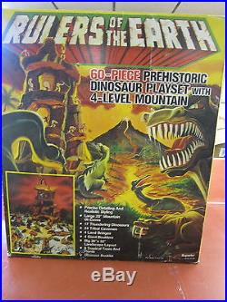Marx and Superior Playset combo with Marx dinosaurs and mountain set