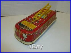 Marx fire truck from the Firehouse playset rare piece