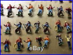 Marx miniature play set parts cowboys western figure lot plastic hand painted