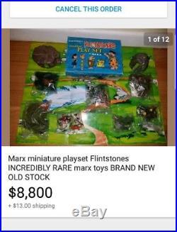 Marx miniature playset Flintstones Store Display BRAND NEW MINT RAREST MARX SET
