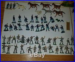 Marx miniature playset blue and gray armies super rare marx toy soldiers war