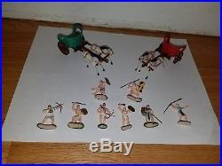 Marx miniature playset ten commandments 10 Moses Egyptians chariots gallant