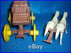 Marx original stagecoach and team of horses from playset in excellent condition