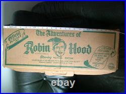 Marx play set 4721 ROBIN HOOD RICHARD GREENE with original box 1950's TV
