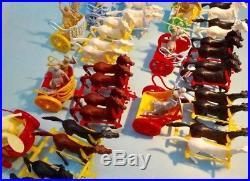 Marx toy playset 54mm ben -hur enlarged set #4702 1959 used in original box oop