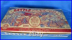 Marx vintage 1959 Battle of the Blue & Gray playset #4746 series 1000 in box