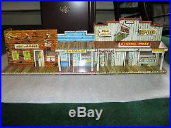Marx western playset lot Roy Roger Mineral City, Wells Fargo, 3 buildings & more