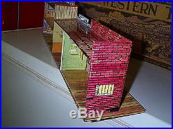 Marxy Western Town Tin Playset Jail Side Building Only #2 Nice