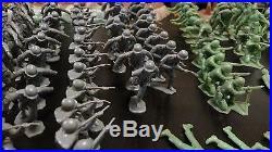 Massive Lot Vintage Marx WWII Battlefield Playset #4769 200+ Figures Vehicles