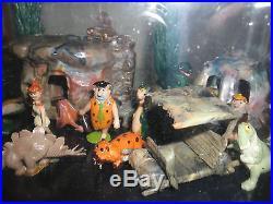 Mega Rare 1962 Marx Flintstones Miniature Playset Hanna Barbera Vintage Tinykins