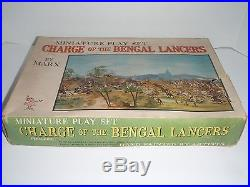 Miniature Marx Play Set Charge Of The Bengal Lancers