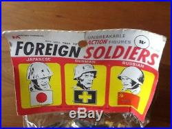 Mpc Marx Sears Playset World War 2 Russians Germans Japanese In Sealed Bag
