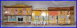 NICE! Marx Western Town Hotel Side Dodge City tin litho Roy Rogers Wagon Train
