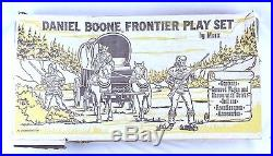 NICE VINTAGE MARX LARGE 6 DANIEL BOONE FRONTIER PLAYSET COVERED WAGON With BOX