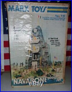 Navarone Giant Playset Vintage 3412 IN BOX. 1974. ARMY TANK ARMY MEN