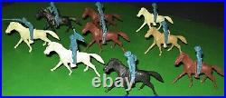 Nice Set Of Vintage Marx Long Coat Aqua Cavalry On Patrol. Mint/matched