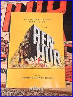 OFFICIAL Vintage 1959 Ben Hur playset SERIES 2000 with box and movie book