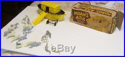 Old Vintage Marx Playset Toy Htf Noah's Ark W Animals And Original Box