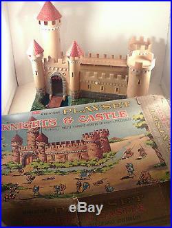ORIGINAL 1960's-vintage Louis MARX KNIGHTS & CASTLE Play Set! In/ ORIG. BOX