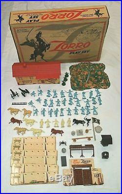 Official Walt Disney's Zorro Play Set by MARX #3745 Series 1000