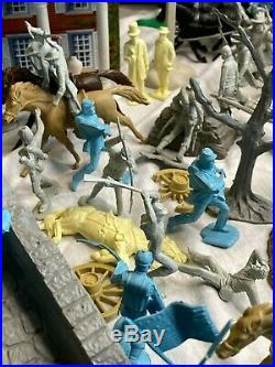 Original 1961 Marx GIANT Blue & Gray Battle Set Civil War Play Set Over 280 PC