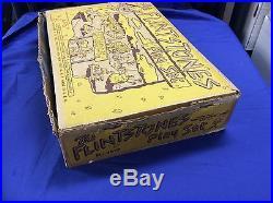 Original 1961 Marx Toys Flintstones Playset boxed 99% Hanna-Barbera cartoon