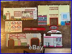 Original Marx Wards Service Station Playset, Montgomery Wards Catalog 3473