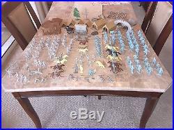 Original Vintage Marx Battle of the Blue and Gray Civil War Soldiers Lot 105 Pcs