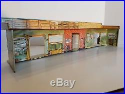 Original Vintage Marx Wells Fargo Tin Litho Buildings from Train Set #54762 1959